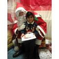 Yuvraj meeting Santa.