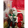 Logan meeting Santa.