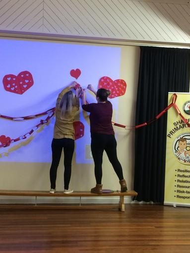Getting ready for the Valentine's Disco