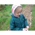 Looking for treasures in the garden