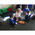 We worked together to create a egg box dragon