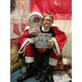 Elijah meeting Santa.