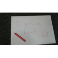 Note left by the red crayon