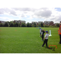 We had a go a Javelin on the field.