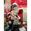 Inayah meeting Santa.