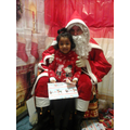 Amayah meeting Santa.