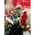 Oliver meeting Santa.