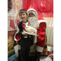Tyler meeting Santa.