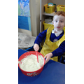 Adding bicarbonate of soda.