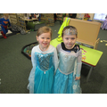Amber and Eboni enjoyed being Princess Elsa
