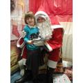 Jessica meeting Santa.