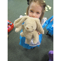 Brooke brought her rabbit to join in too!