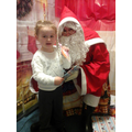Kieramay meeting Santa.