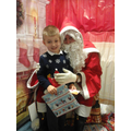 Thomas meeting Santa.
