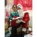 Hasan meeting Santa.