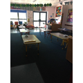 Sparkling Seahorses classroom with separate tables