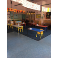 Tiny Turtles classroom with separate tables