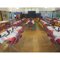 Dining hall ready for Christmas lunch