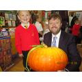 Look at my fabulous pumpkin Mr Meades!