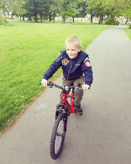 William learnt how to ride a bike! Well done!!!