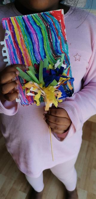 Neha's rainbow art!