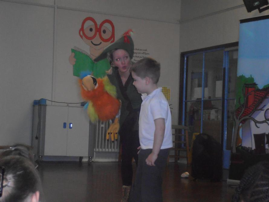 Riley enjoyed helping 'Jack'