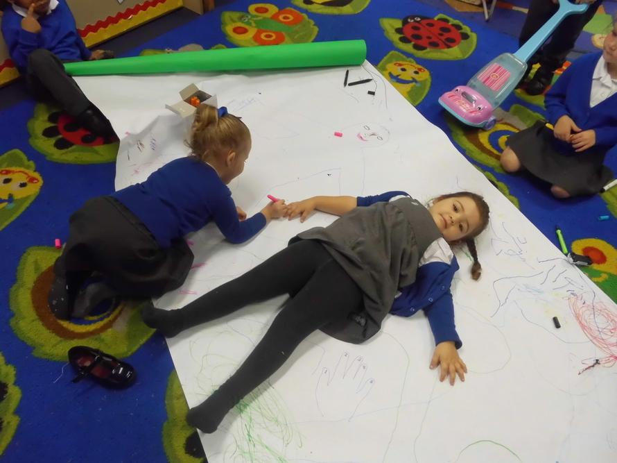 Drawing around our bodies