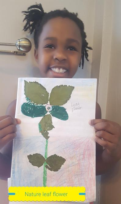 Nyameso created a leaf flower!