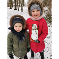 What a pretty snowman Emile and her brother created!