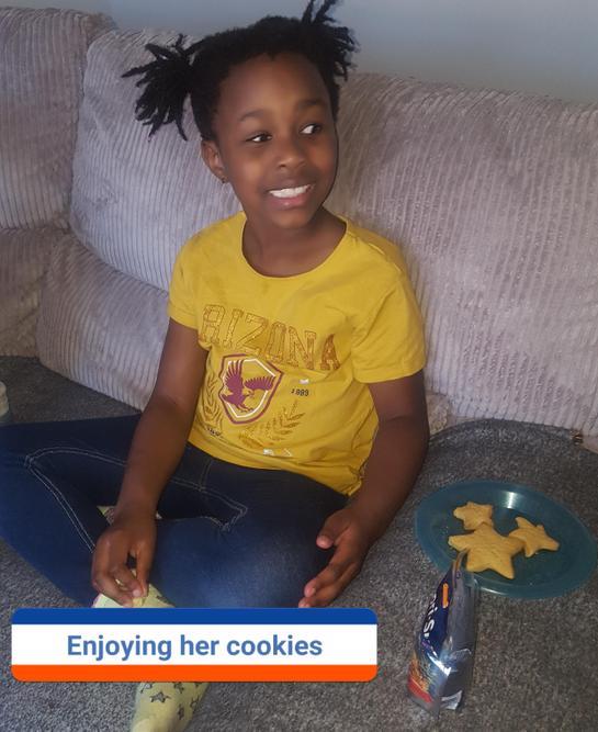 Nyameso enjoyed her cookies!