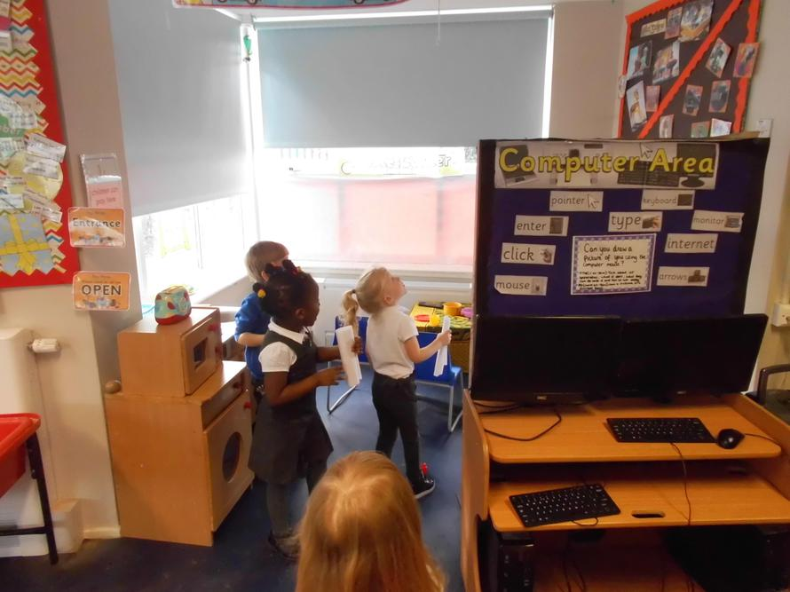 The children searched for evil pea in Nursery