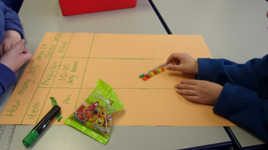 Measuring objects using jelly beans!
