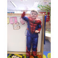 'I'm spiderman i shoot webs because that helps me swing and get in front of naughty ones'