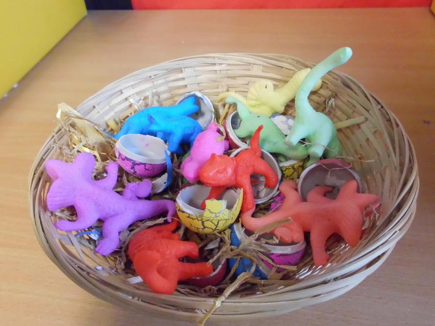Dinosaurs hatched from the eggs!