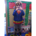 'I am superman girl, i can fly and i can swim too'