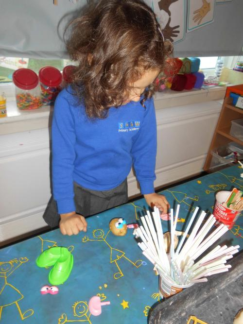 Nikol investigates the different fruits and veg!