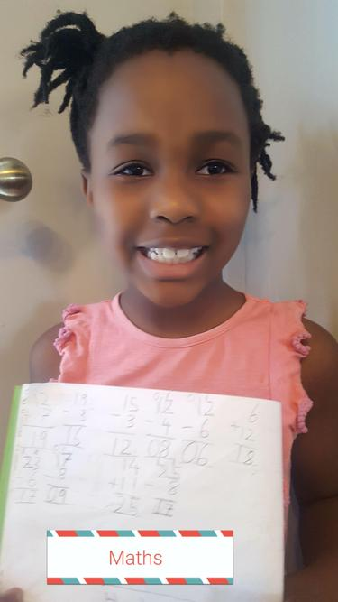 Nyameso worked hard on her maths!