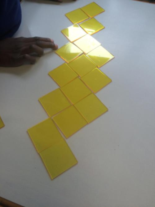 Tesselating shapes on the table