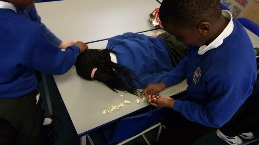 Measuring using popcorn