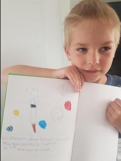 William designed a rocket!