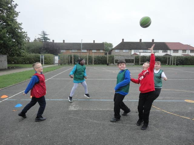 Small sided matches in Basketball Club.