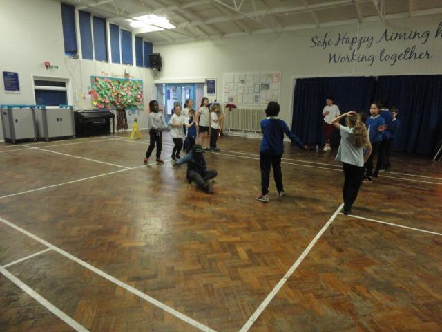 Incorporating different levels into their dance