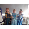 Merida and two Cinderella's.