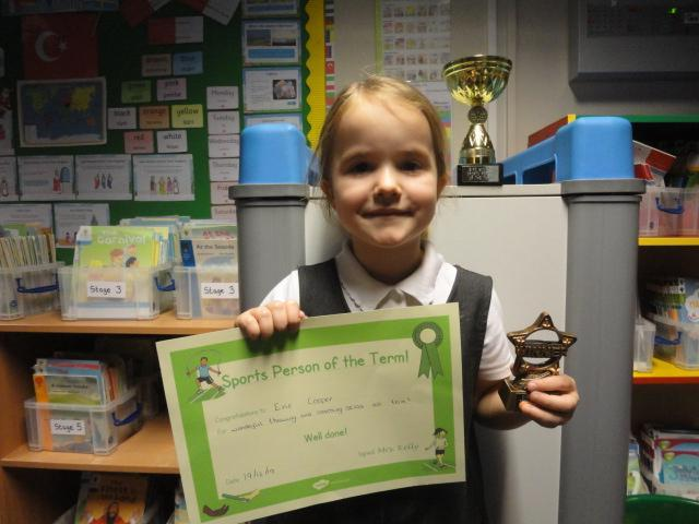 Our KS1 winner was Evie