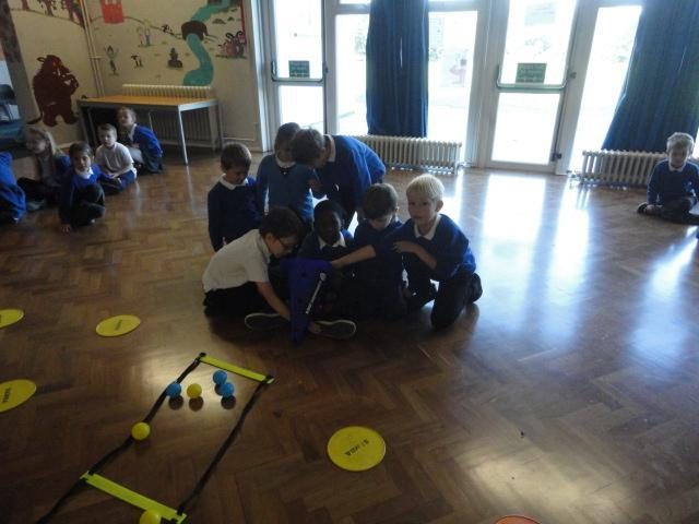Using maths to count how many balls were collected