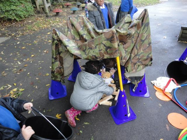 Adapting their idea and to build a waterproof tent