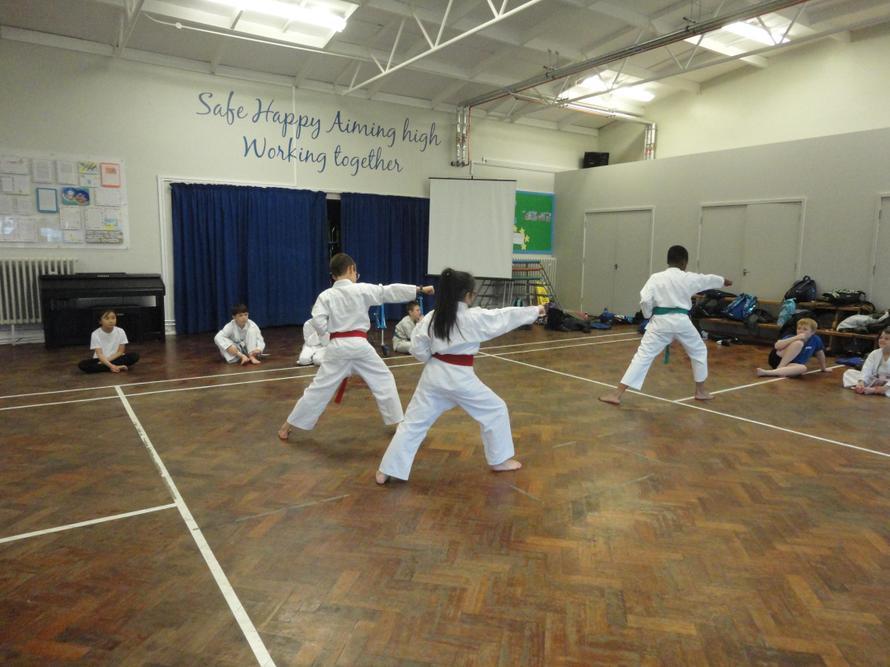 Demonstrating different skills