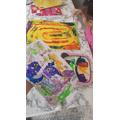 Ella and Maya's paintings