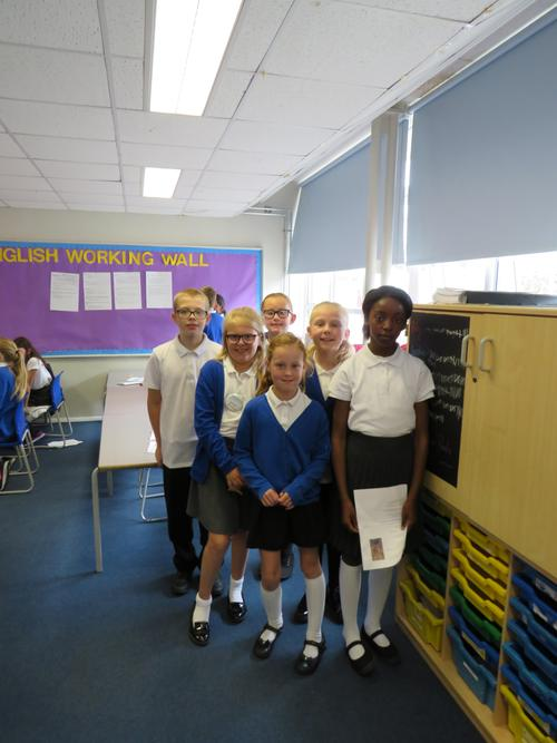 Cluster - There was a cluster of Year 6 children.