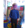 'Harrison Superhero' ' I can run fast and fly'